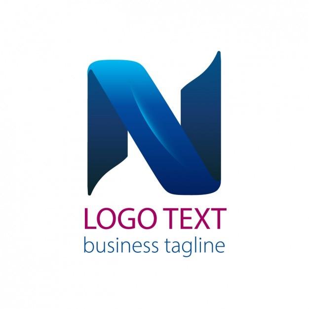 Logo de cinta azul de la letra n descargar vectores gratis for Logos con letras