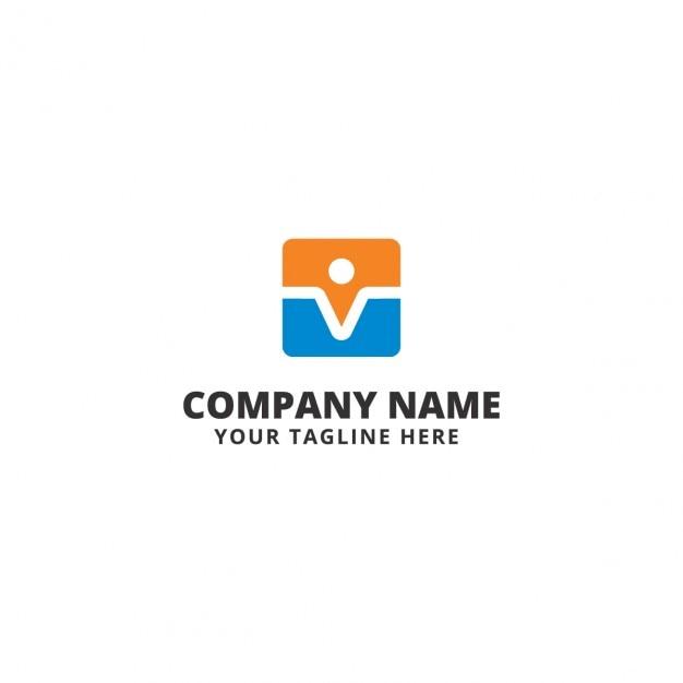 Logo de colores moderno de empresa descargar vectores gratis for Logo de empresa gratis