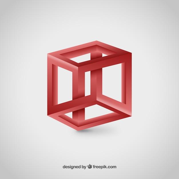 Logo de cubo 3d descargar vectores gratis for Logo 3d online