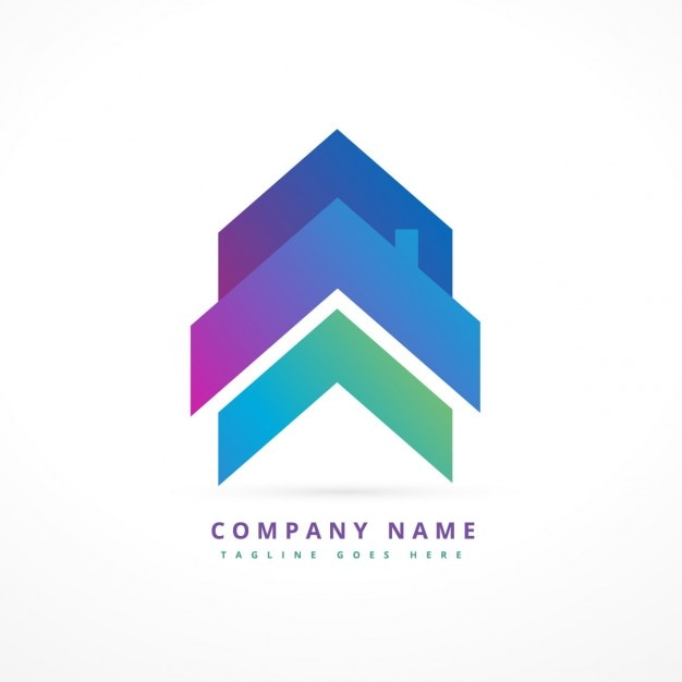 Logo de empresa con una casa flecha descargar vectores for Logo de empresa gratis