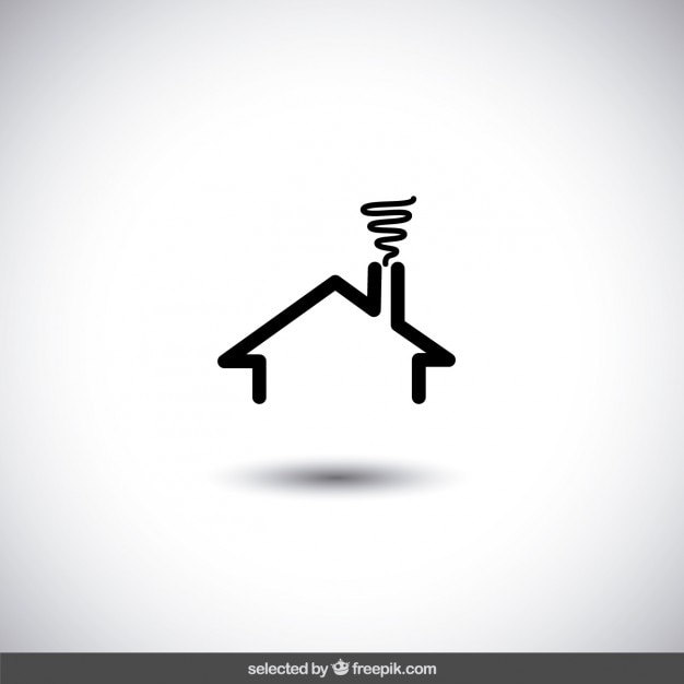 Logo de inmobiliaria de casa negra descargar vectores gratis for Inmobiliaria la casa