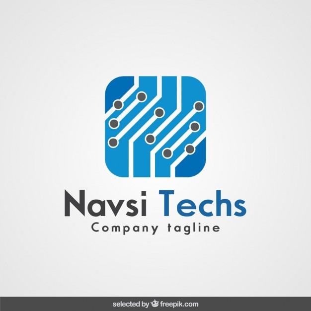 Logo de la empresa de tecnología | Descargar Vectores gratis