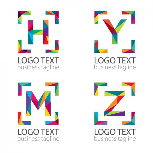 logo de letras modernas descargar vectores gratis