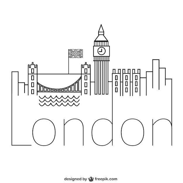 Line Drawing Tattoos London : Logo de londres descargar vectores gratis