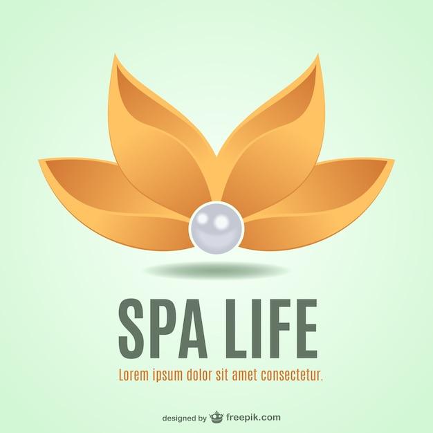 Logo de spa con flor   Descargar Vectores gratis