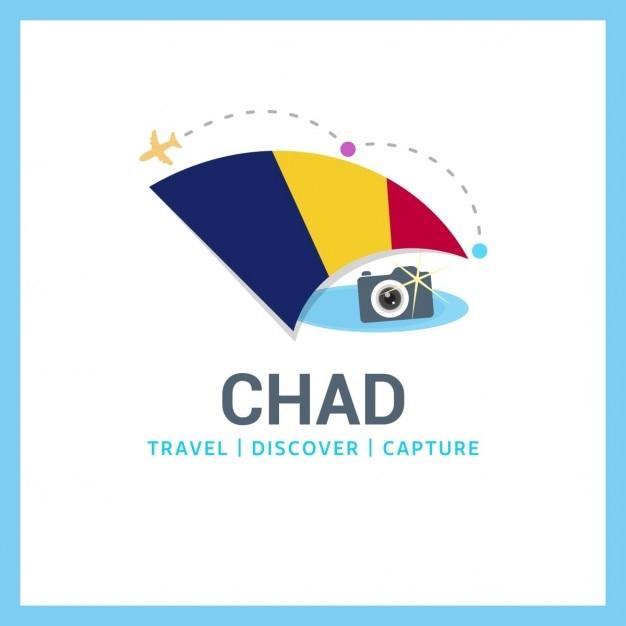 Logo de viaje con bandera de chad descargar vectores gratis - Banera de viaje ...