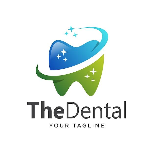 Logo dental gradiente simple limpio Vector Premium