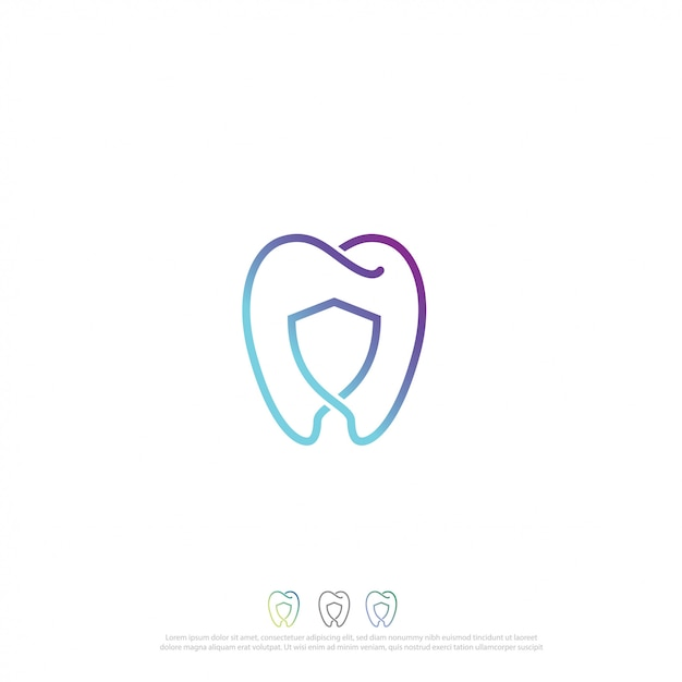 Logo dental Vector Premium