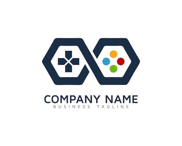 Logo Con Diseno De Videojuego Descargar Vectores Premium