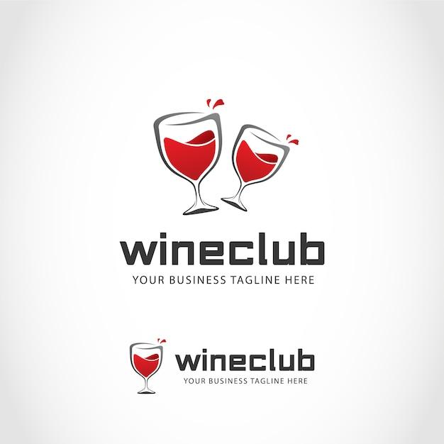 Logo con diseño de vino vector gratuito