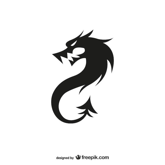 Logo dragón negro para descarga gratuita   Descargar Vectores gratis