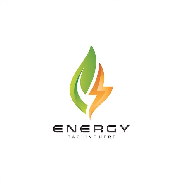 Logo de energía moderna | Vector Premium