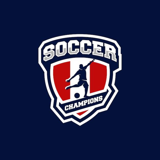 Logo de futbol Vector Premium
