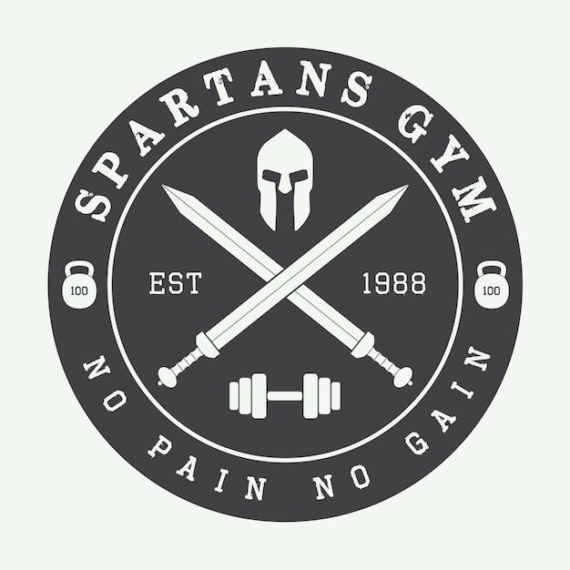 Logo de gimnasio Vector Premium