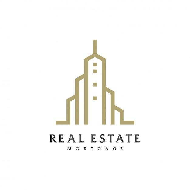 Logo inmobiliario Vector Premium