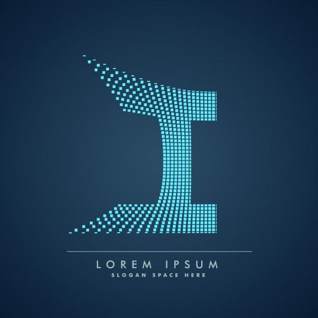 Logo de letra i a cuadros vector gratuito