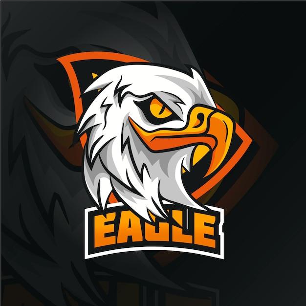 Logo de mascota águila salvaje Vector Premium