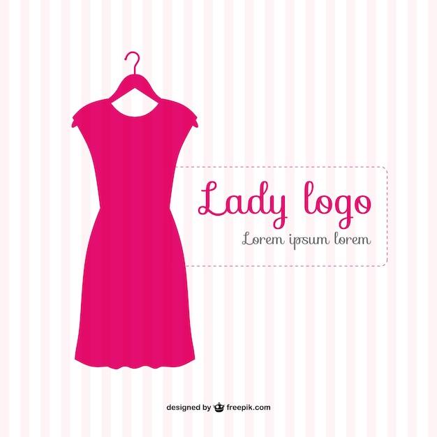 Logo de moda con vestido vector gratuito