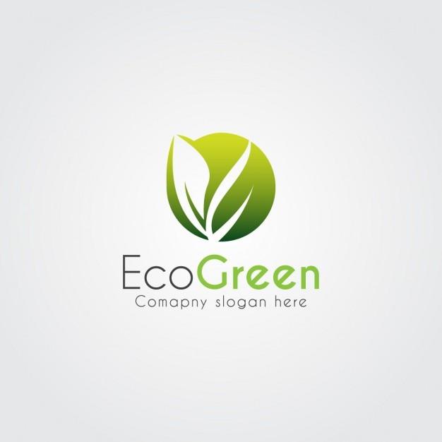 Logo moderno ecológico de hoja abstracta vector gratuito