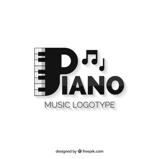 Logo moderno de música vector gratuito