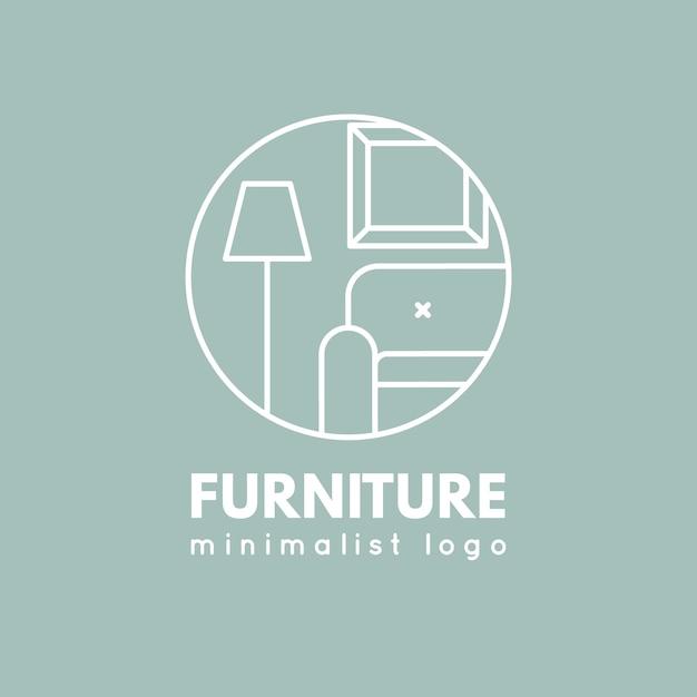 Logo de muebles minimalistas vector gratuito