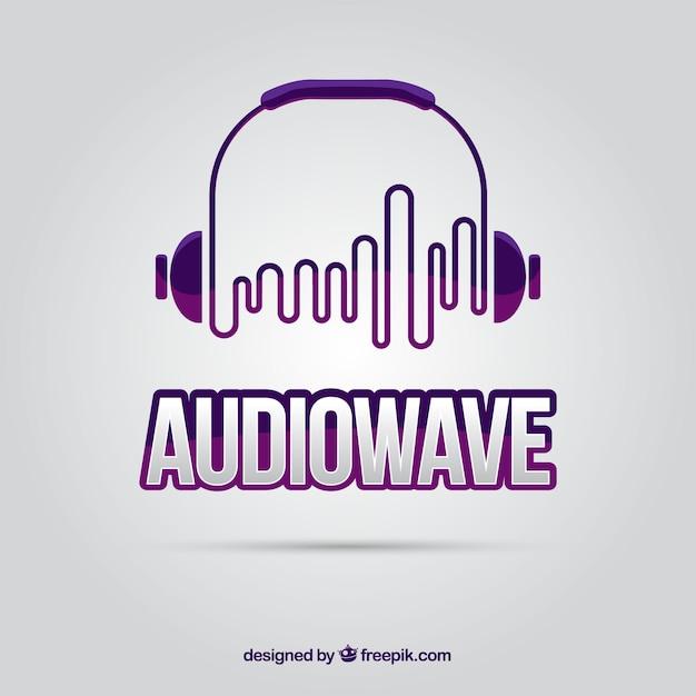 Logo de onda de sonido Vector Premium