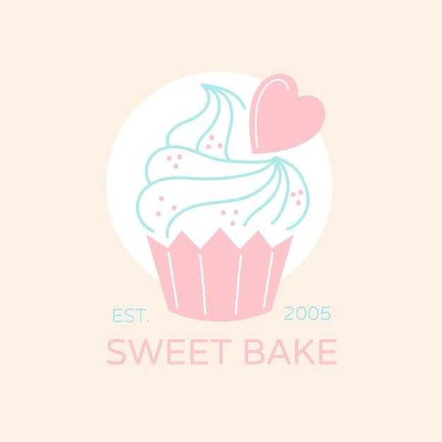 Logo de pastel de panadería vector gratuito