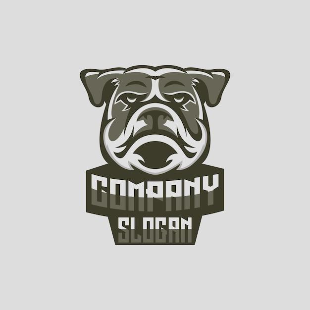 Logo de perro esport Vector Premium