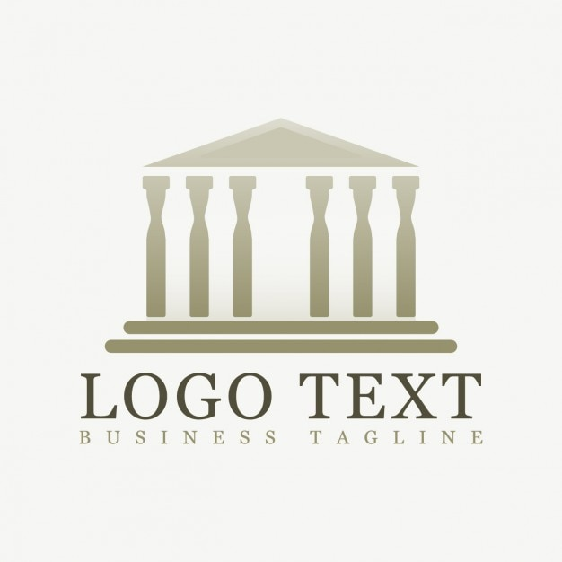 Logo poligonal del partenón vector gratuito
