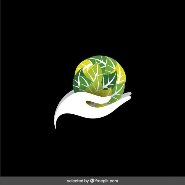 Logo protege el medio ambiente vector gratuito