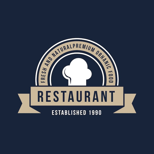 Logo de restaurante retro vector gratuito