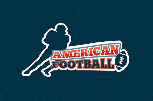 Logo retro de fútbol americano vector gratuito