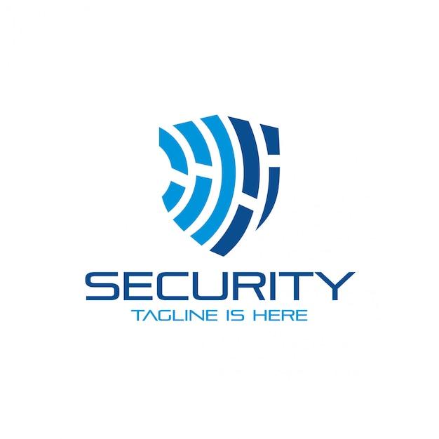 Logo de seguridad Vector Premium