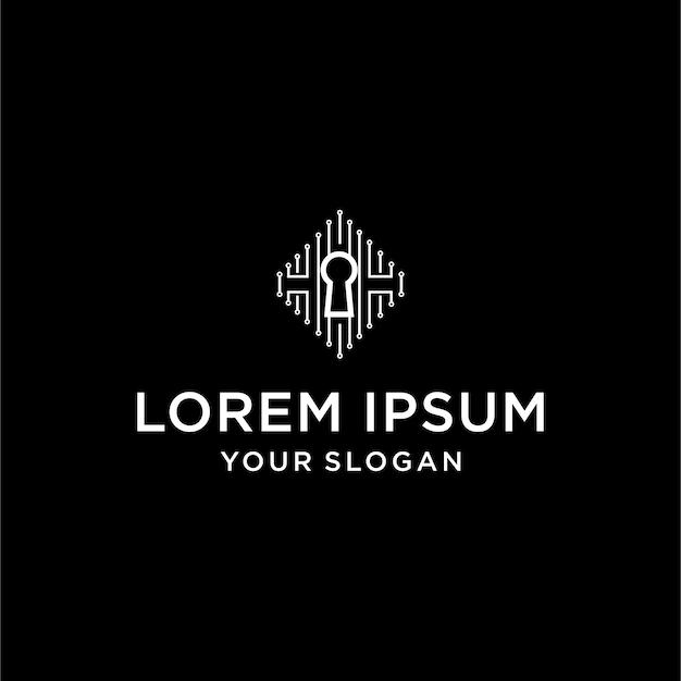 Logo para tecnología clave Vector Premium