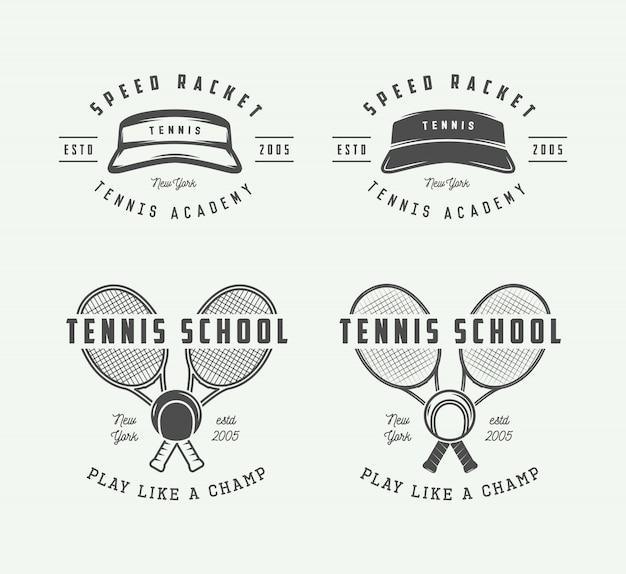 Logo de tenis Vector Premium