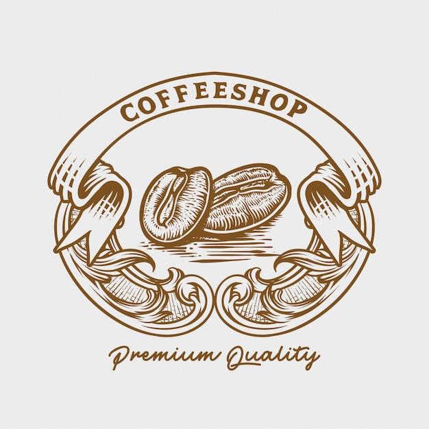 Logo de tostadores de café Vector Premium