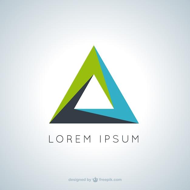 Logo triangular Vector Premium