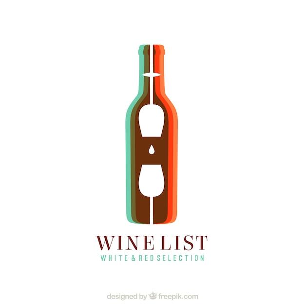 Logo de vino abstracto vector gratuito