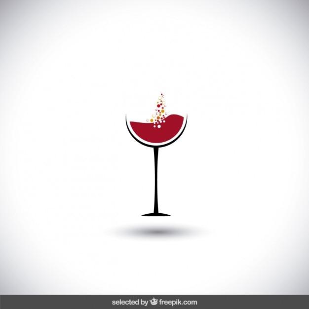 Logo vino vector gratuito