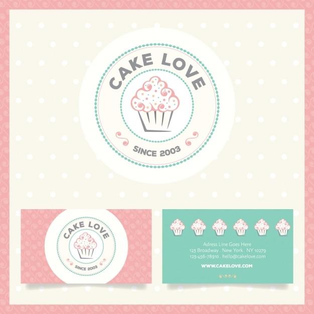 Logo y tarjetas de visita de pasteler a descargar - Plantillas para reposteria ...