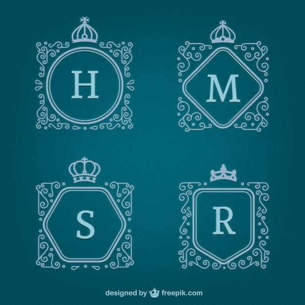Logos de letras ornamentales descargar vectores gratis for Logos con letras