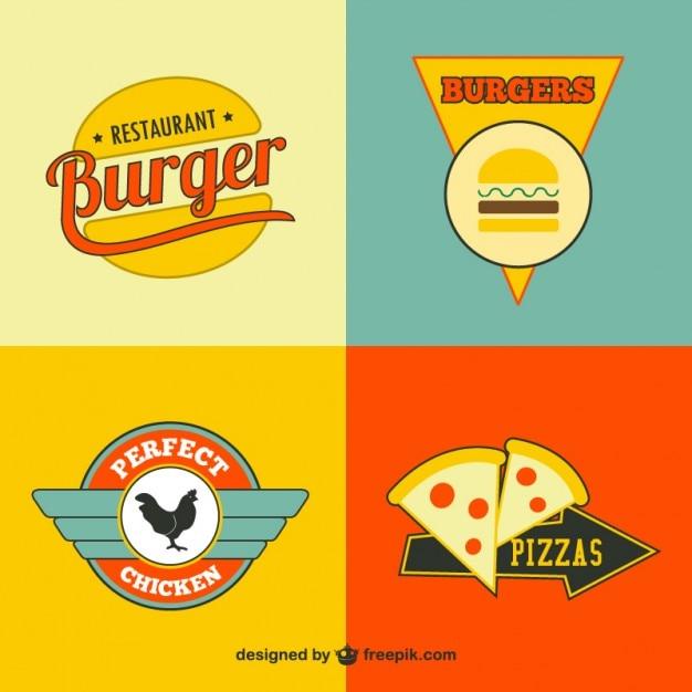 Logos Gratuitos De Comida R Pida Descargar Vectores Gratis