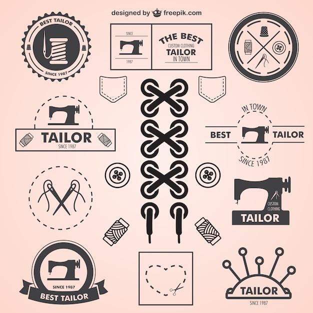 Logos vintage de sastre Vector Gratis
