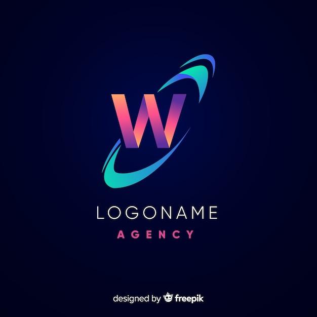 Logotipo abstracto vector gratuito