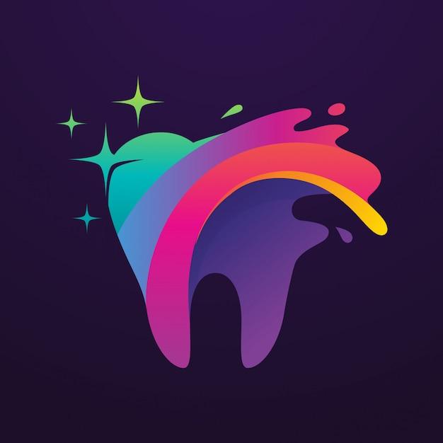 Logotipo de arte dental Vector Premium