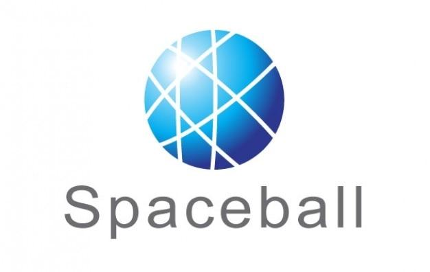 Deportes De Pelota Descargar Vectores Gratis: Logotipo Azul Corte Spaceball Pelota