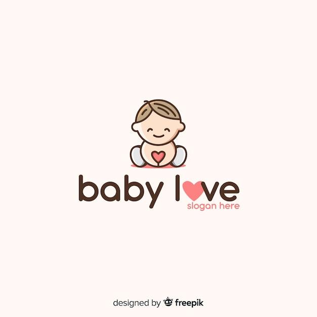 Logotipo de bebé vector gratuito