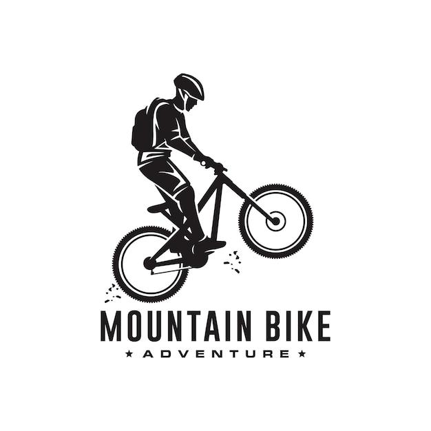 Logotipo de bicicleta de montaña Vector Premium