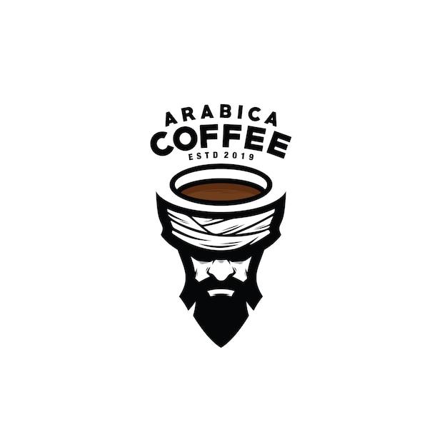 Logotipo de café arábica Vector Premium