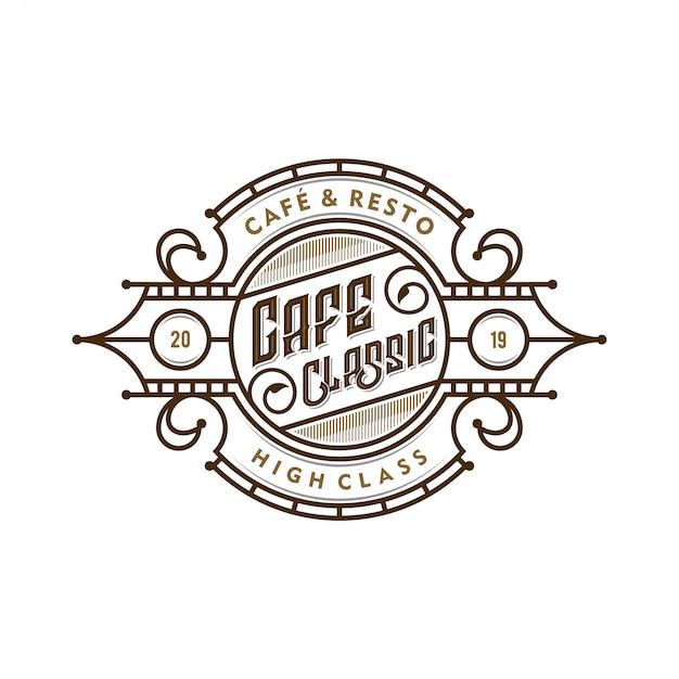Logotipo para cafeterías o etiquetas de productos de café. Vector Premium